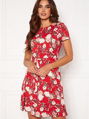 Happy Holly Tova ss dress Red / Patterned