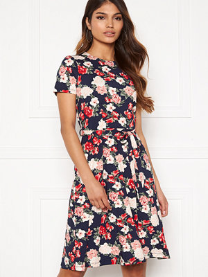 Happy Holly Tova ss dress Navy / Patterned