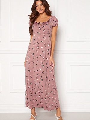 Happy Holly Tessie maxi dress Dusty pink / Patterned