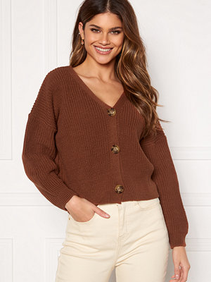 Girl In Mind Kiera Relaxed Fit Cardigan Rust Rust