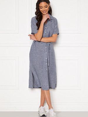 Gant Linen Chambray SS Shirt Dress Persian Blue