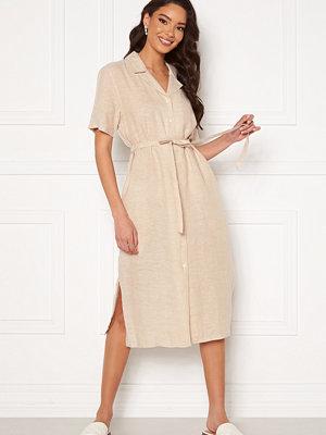 Gant Linen Chambray SS Shirt Dress Dry Sand