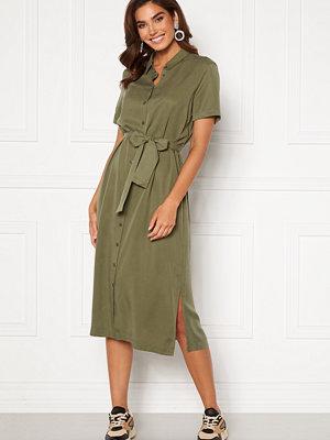 Object Tilda Isabella S/S Dress Deep Lichen Green