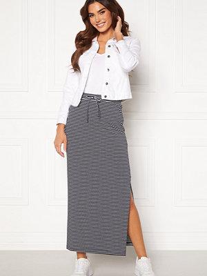 Object Stephanie Maxi Skirt White Stripes Sky Ca