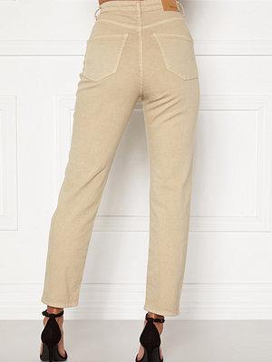 Bubbleroom Lana high waist jeans Beige