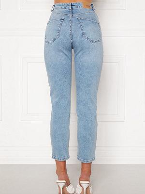 Bubbleroom Lana high waist jeans Light blue