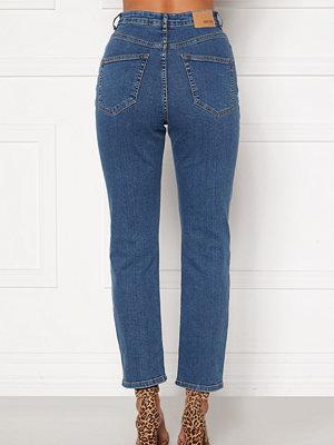Bubbleroom Lana high waist jeans Medium blue