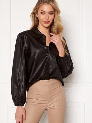 Jacqueline de Yong London L/S Faux Leather Shirt Black