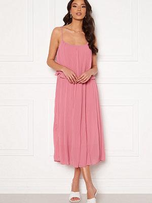 Vila Katelyn S/L Pleated Midi Dress Wild Rose