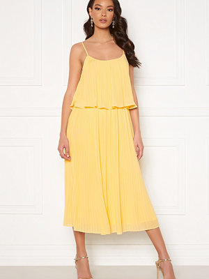 Vila Katelyn S/L Pleated Midi Dress Sunlight