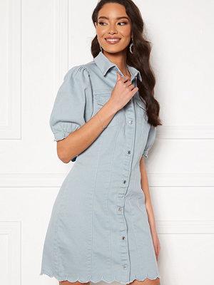Vero Moda Aviis 2/4 Puff Short Dress Blue Fog