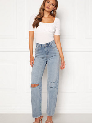 Bubbleroom Lori straight leg jeans Light denim