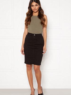 Bubbleroom Bianca denim skirt Black
