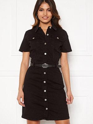 Bubbleroom Odina denim dress Black