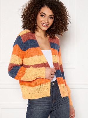 Pieces Lilo LS Knit Cardigan Canyon Rose/ Stripes