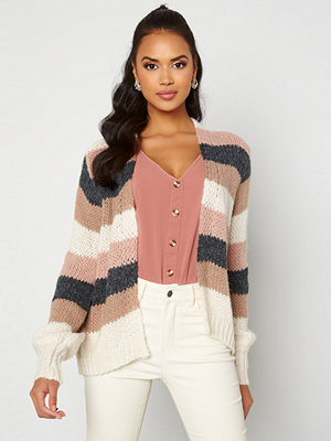 Pieces Lilo LS Knit Cardigan Misty Rose/Stripes