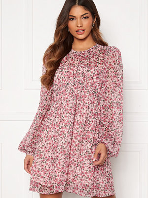 Forever New Michelle Ruched Tunic Blush Floral