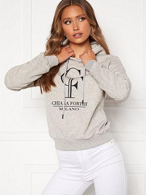 Chiara Forthi Gabriella logo hoody Grey melange