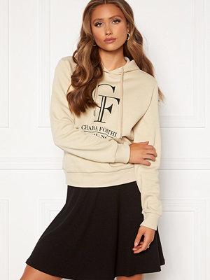 Chiara Forthi Gabriella logo hoody Light beige