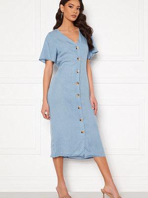 Vero Moda Viviana Ss Calf Dress Light Blue Denim