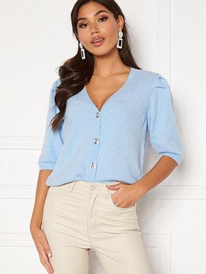 Vila Sparkle S/S Knit Cardigan Cashmere Blue