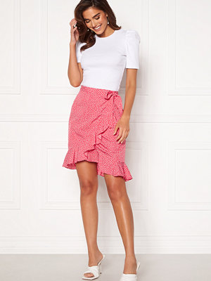 Vero Moda Henna Wrap Short Skirt Honeysuckle / Dots
