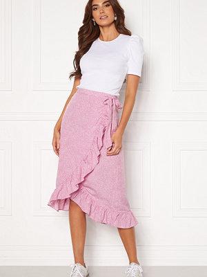 Vero Moda Henna Wrap Blk Skirt Smoky Grape/ Dots