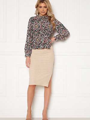 Only Nella Slit Skirt Pumice Stone