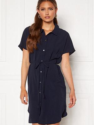 Only Nova Lux S/S Shirt Dress Solid Night Sky