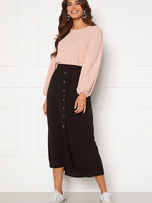Only Nova Lux Button Skirt Solid Black