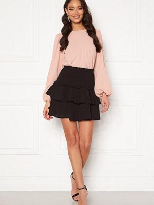 Only Nova Lux Mette Smock Skirt Solid Black