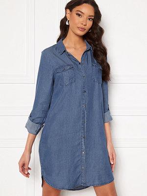 Vero Moda Silla LS Short Dress Medium Blue Denim