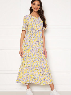 Only Amalie Life SS Midi Dress Mellow Yellow/Flower
