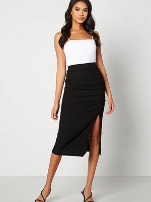 Only Nella Slit Skirt Black