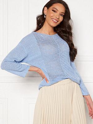 Jacqueline de Yong Smilla 3/4 Pullover Brunnera Blue