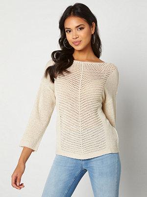 Jacqueline de Yong Smilla 3/4 Pullover Beige