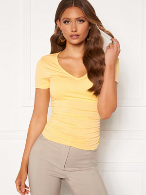 Chiara Forthi Carmelina ruched top Yellow