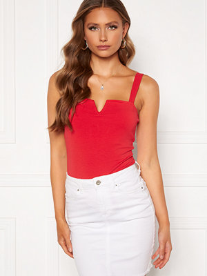 Chiara Forthi Bettina deep v-neck top Red