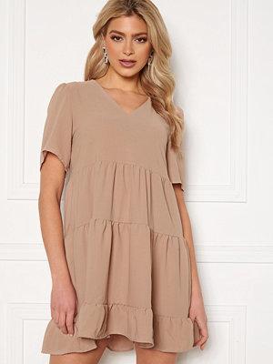 Trendyol Short SS Dress Tas/Stone