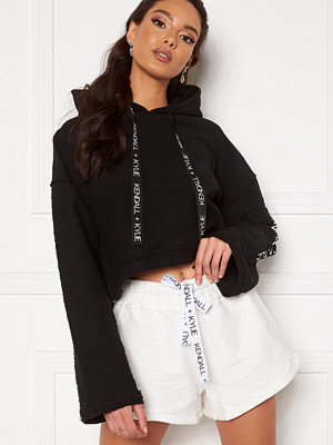 Kendall + Kylie K&K Active Hoody Inside Out Sweater Short Black
