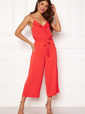 Jumpsuits & playsuits - Object Tribbiani S/L Jumpsuit Poppy Red