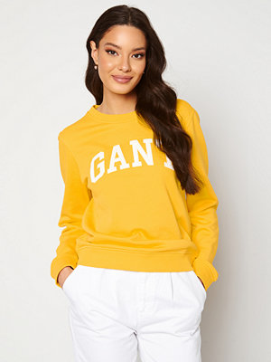 Gant Arch Logo C-Neck Sweat 728 Solar Power Yell