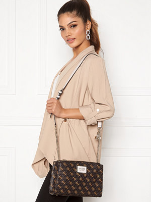 Guess axelväska Tyren Girlfriend CarryAll Brown Stone