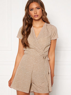 Jumpsuits & playsuits - Bubbleroom Janelle playsuit Beige / Brown / Leopard