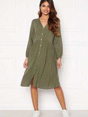Happy Holly Karen dress Khaki green