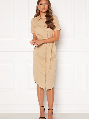 Happy Holly Reese shirt dress Light beige