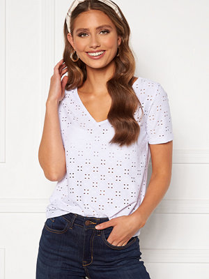 Vila Tressy Detail V-Neck Top Optical White