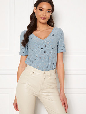 Vila Tressy Detail V-Neck Top Ashley Blue