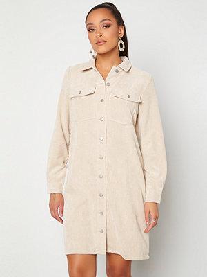 Pieces Effi LS Shirt Dress White Pepper