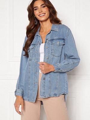 Vero Moda Emery Ls Oversize Denim Shirt Light Blue Denim